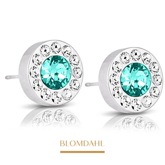Brilliance Halo Crystal/ Turquoise 8 mm SFJ