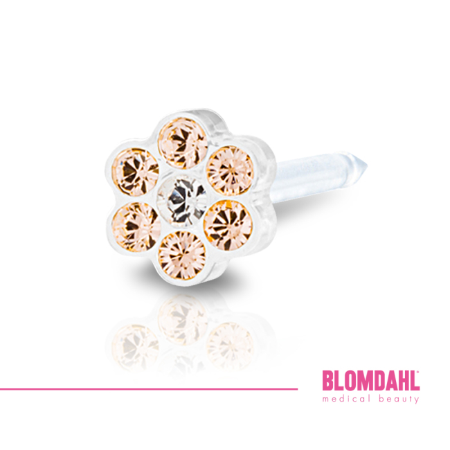 Daisy Golden Rose/ Crystal 5 mm