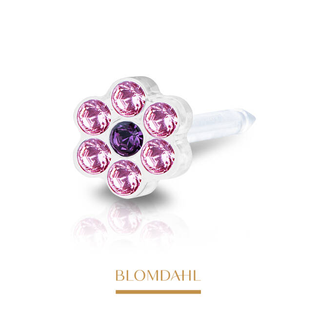 Daisy Light Rose/ Amethyst 5 mm