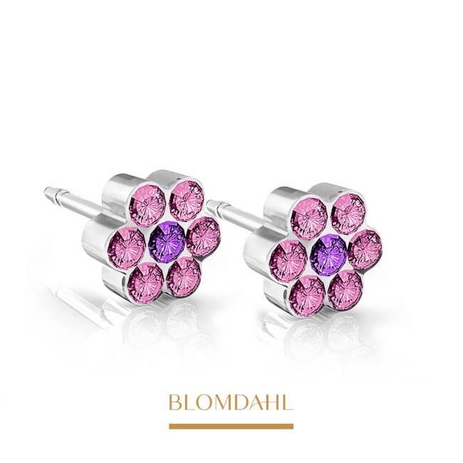 Daisy Light Rose/ Amethyst 5 mm SFJ