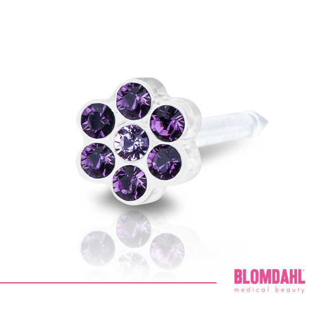 Daisy Amethyst/ Light Amethyst 5 mm