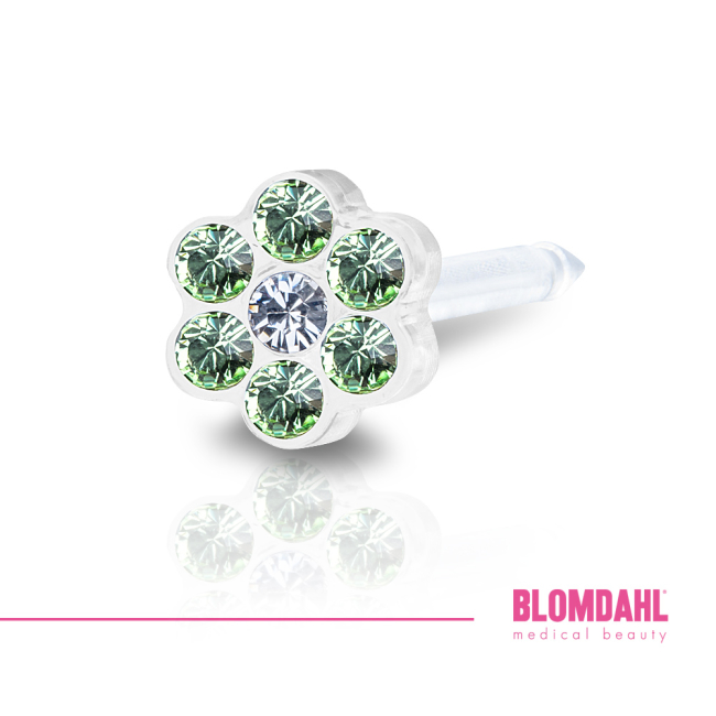 Daisy Peridot/ Crystal 5 mm